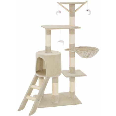 Cat tree Dominik - cat scratching post, cat tower, scratching post - beige