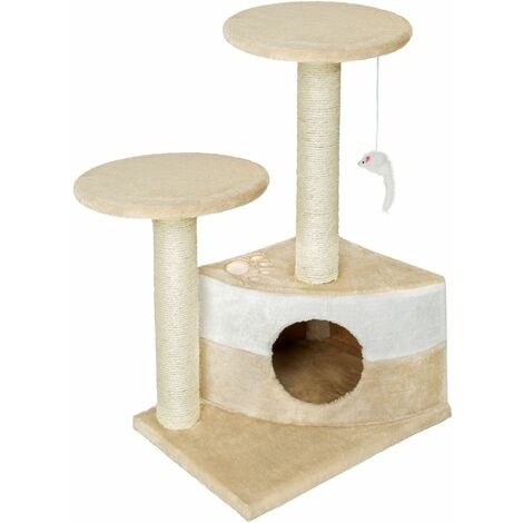 Cat tree Tommy - cat scratching post, cat tower, scratching post - beige/white