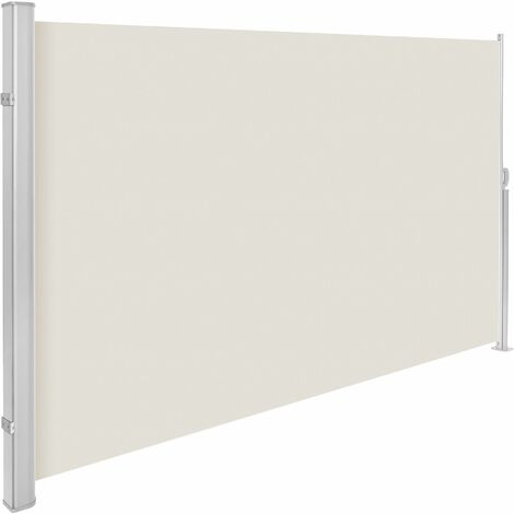 Aluminium side awning - privacy screen, garden privacy screen, patio awning - 160 x 300 cm - beige