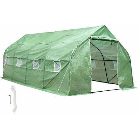 Greenhouse polytunnel tent - polytunnel, walk in greenhouse, garden greenhouse - green