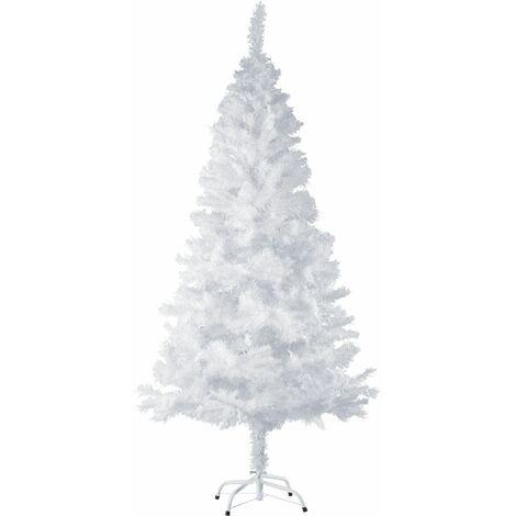 Christmas tree artificial - white christmas tree, xmas tree, artificial christmas tree - 180 cm 533 tips, white - white