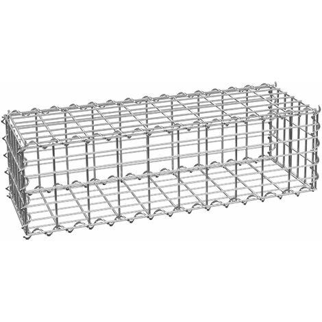 Gabion basket - gabion, garden gabion, wire wall basket - 100 x 30 x 30 cm - grey