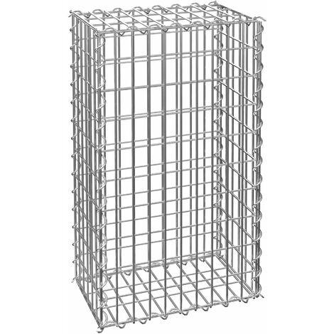 Gabion basket - gabion, garden gabion, wire wall basket - 100 x 30 x 50 cm - grey