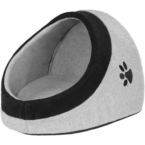 Dog bed dreamer - cat bed, luxury dog bed, pet bed - L / 34 x 38 x 30 cm - black/grey