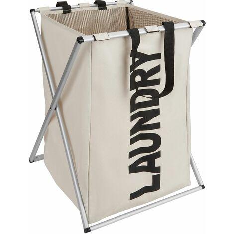 Laundry basket single - hamper basket, hamper, washing basket - beige