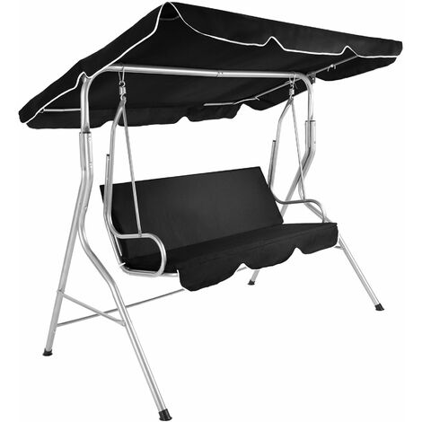 Garden swing seat - garden swing chair, swing chair, hanging garden chair - black