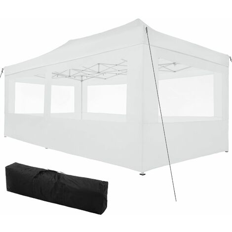 Gazebo collapsible 3x6 m with 4 Sides - Viola - garden gazebo, gazebo with sides, camping gazebo - white