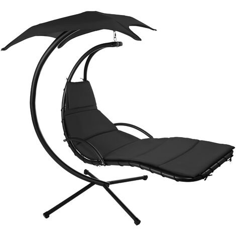 Hanging chair Kasia - garden swing seat, garden swing chair, swing chair - black