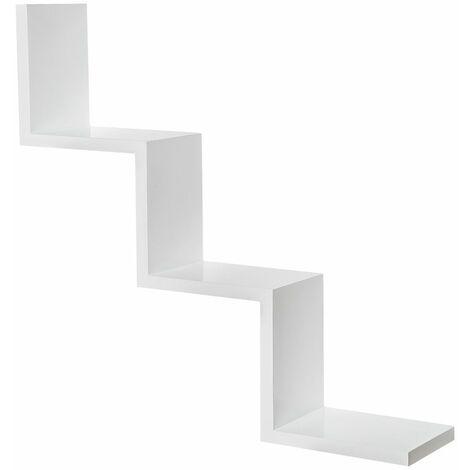 Floating shelf Laura - wall shelf, wall mounted shelf, hanging shelf - white
