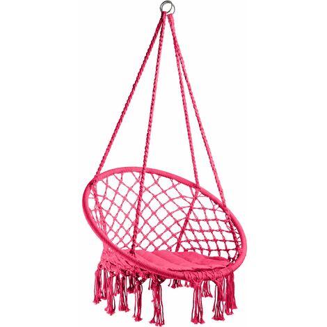 Hanging chair Jane - garden swing seat, hanging egg chair, garden swing chair - pink