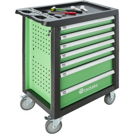 Tool box with wheels and tools 1199 PCs. - tool chest, tool cabinet, tool drawers - green