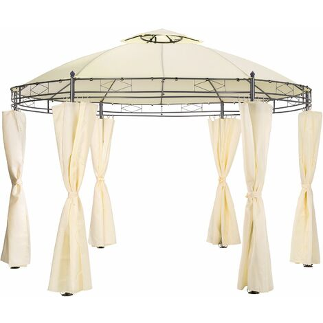 Luxury gazebo 350 cm Siana - garden gazebo, camping gazebo, party gazebo - cream