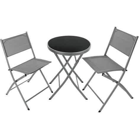 Garden Furniture Set Düsseldorf - garden table and chairs, outdoor table and chairs, garden table and chairs set - grey