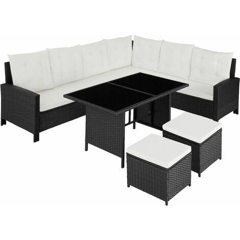 Barletta Rattan Garden Furniture Set - rattan garden furniture set, rattan garden furniture, lounge set - black