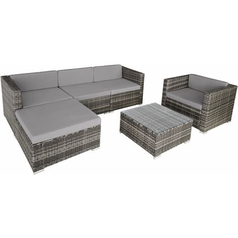 Rattan garden furniture Milano - grey