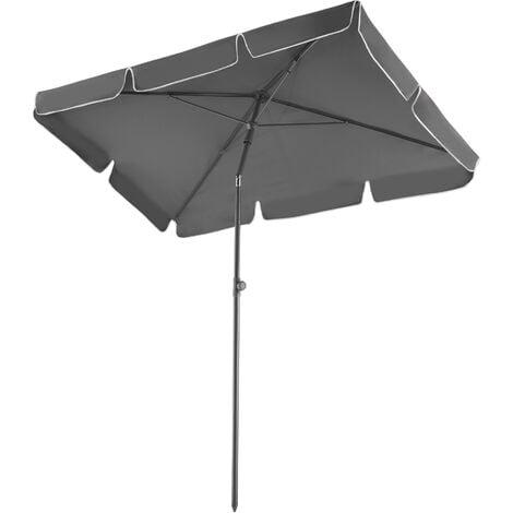 Parasol Vanessa - garden parasol, parasol umbrella, beach parasol - grey