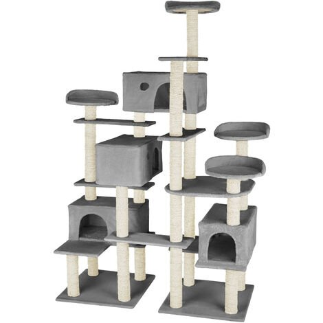 Cat tree Entissar | Adventure towers for cats with scratching posts - cat scratching post, cat tower, scratching post - grey
