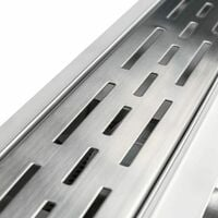 Channel drain made of stainless steel - low - shower drain, slot drain, linear shower drain - 60 cm - grey