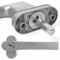 10 window handles lockable - window locks, lever handle, metal window handle - silver