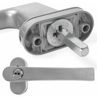 8 window handles lockable - window locks, lever handle, metal window handle - silver