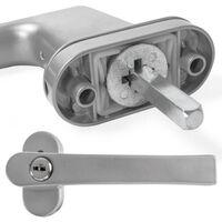 2 upvc window handles lockable - window handles, upvc window locks, replacement upvc window handles - silver