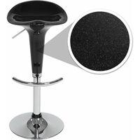 2 bar stools Peter made of plastic - breakfast bar stools, kitchen stools, kitchen bar stools - black