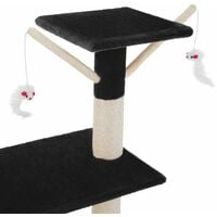 Cat tree Dominik - cat scratching post, cat tower, scratching post - black