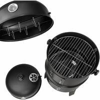 BBQ smoker barrel 3-in-1 - smoker, barbecue smoker, smoker grill - black