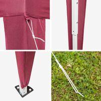 Gazebo foldable 3x3m - garden gazebo, camping gazebo, party gazebo - red