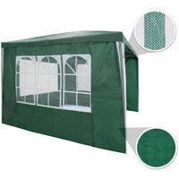 Gazebo 3x3m with 3 side panels - garden gazebo, gazebo with sides, camping gazebo - green