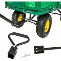 Garden trolley large max. 544kg - garden cart, beach trolley, trolley cart - green