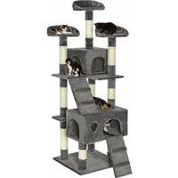 Cat tree Mogli - cat scratching post, cat tower, scratching post - grey