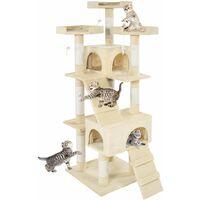 Cat tree Barney - cat scratching post, cat tower, scratching post - beige