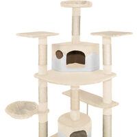 Cat tree Duki - cat scratching post, cat tower, scratching post - beige/white