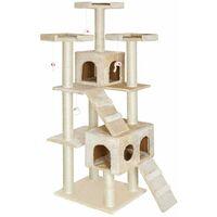Cat tree Knuti - cat scratching post, cat tower, scratching post - beige