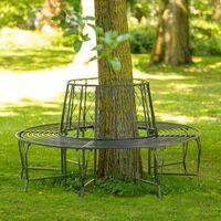 360° garden bench made of steel - bench, outdoor bench, metal garden bench - anthracite