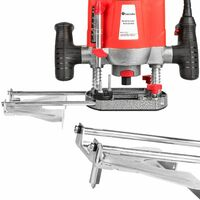 Router 1200W incl. accessories - palm router, router tool, wood router - red