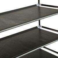 Shoe rack with 10 shelves - shoe shelf, tall shoe rack, shoe organiser - black