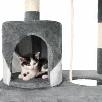 Cat tree Stokeley - cat scratching post, cat tower, scratching post - grey/white