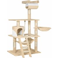 Cat tree Stokeley - cat scratching post, cat tower, scratching post - beige/white