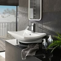 Faucet curved waterfall tap - bathroom sink tap, faucet tap, bath and sink tap - grey