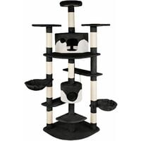 Cat tree Nelly - cat scratching post, cat tower, scratching post - black/white