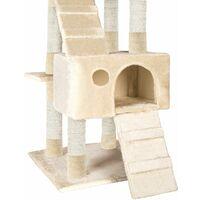 Cat tree Goran - cat scratching post, cat tower, scratching post - beige