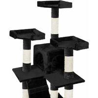 Cat tree Goran - cat scratching post, cat tower, scratching post - black