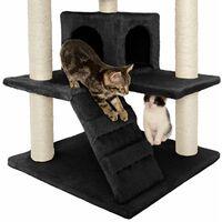 Cat tree Micki - cat scratching post, cat tower, scratching post - black