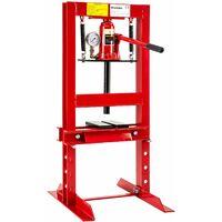 Hydraulic press 6t - workshop press, hydraulic bench press, hydraulic press machine - red