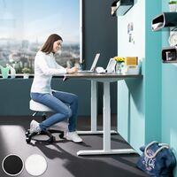 Desk stool - office chair, stool chair, adjustable stool - black