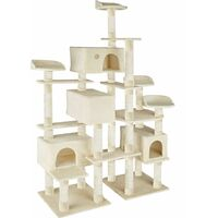 Charly cat tree - cat scratching post, cat tower, scratching post - beige