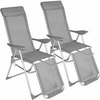 Stupendous 4 Aluminium Garden Chairs With Headrest Reclining Garden Download Free Architecture Designs Grimeyleaguecom