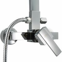 Shower panel SF-8600 rain shower - shower head, shower tower, shower column - grey
